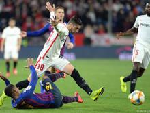 Der FC Sevilla legte im Cup-Viertelfinale gegen Barcelona vor