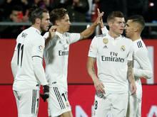 Real Madrid gewann das Viertelfinal-Rückspiel gegen Girona