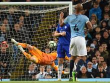 Vincent Kompany ließ Manchester City gegen Leicester jubeln