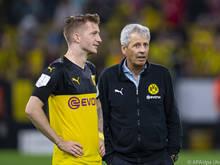Trainer Lucien Favre (r.) und Kapitän Marco Reus sind beim BVB guter Dinge