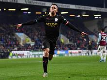 Gabriel Jesus netzte für Manchester City gleich zwei Mal ein