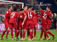 Bayern-Jubel beim 6:1-Kantersieg gegen Werder Bremen