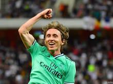 Luka Modric jubelt mit Real Madrid über den Finaleinzug