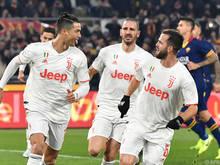 Juventus jubelt nach einem knappen Sieg über die Tabellenführung