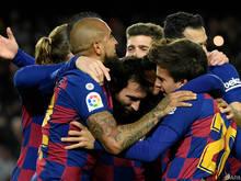 Die Barcelona-Spieler konnten zuletzt jubeln