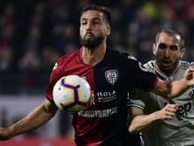 Italiens Teamspieler Leonardo Pavoletti muss lange pausieren