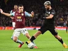 Sergio Agüero (r.) brachte Manchester City auf die Siegerstraße