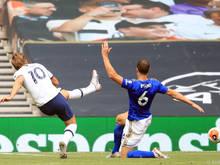 Stürmerstar Harry Kane traf gegen Leicester gleich doppelt