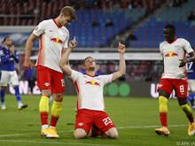 Marcel Halstenberg traf beim 4:0-Sieg der Leipziger gegen Schalke