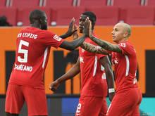 RB Leipzig bleibt mit dem Sieg in Augsburg weiter auf Kurs