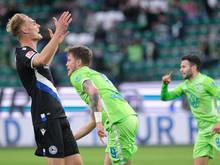Bielefelds Amos Pieper hätte gerne nicht gegen Wolfsburg verloren