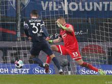 Robert Zulj trifft hier zum 4:0 gegen Düsseldorf