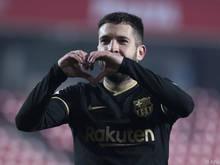 Jordi Alba freut sich über den Aufstieg in die nächste Runde
