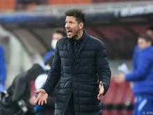 Atlético-Coach Diego Simeone kommt mit seinem Team ins Straucheln