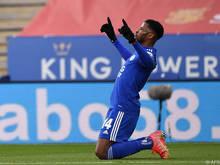 Leicester-Stürmer Kelechi Iheanacho will auch gegen Manchester City wieder jubeln