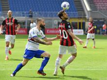 Milan kam gegen Sampdoria nicht über ein Remis hinaus
