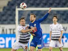 Louis Schaub (m.) traf zweimal für Luzern gegen Basel
