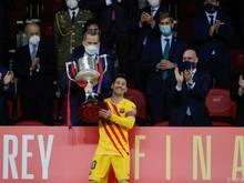Lionel Messi holte mit Barcelona den Cupsieg in Spanien
