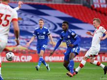 Kelechi Iheanacho (2. v. r.) erzielte Leicesters Siegtreffer