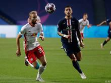 Laimer im Vorjahr im CL-Halbfinale gegen PSG