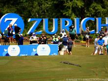 Bereits beim beim vorwöchigen Golf-Team-Turnier schlich ein Alligator über das Feld