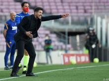 Die Nervosität von Atletico-Coach Diego Simeone nimmt weiter zu