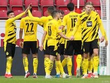 Ein Champions-League-Platz ist für Haaland (r.) und Co. fix