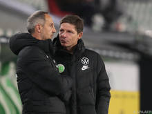 Glasner (r) soll in Frankfurt Nachfolger von Hütter (l) werden