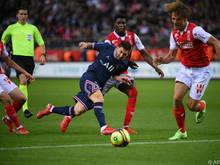 Lionel Messi absolvierte seine ersten Meter im Paris-Dress
