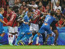 Unschöne Szenen bei Nizza gegen Marseille