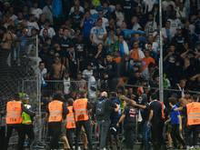 Wieder Randale in einem französischen Stadion