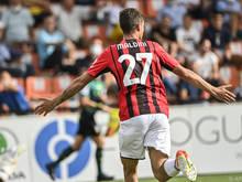 Daniel Maldini jubelt über sein erstes Tor in der Serie A