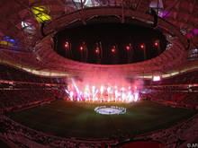 Das Al-Thumana-Stadion wurde am Freitag als sechste der acht WM-Arenen eröffnet