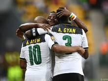 Ghana setzte sich in Gabun gegen Uganda mit 1:0 durch