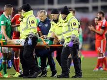 Coleman musste gegen Wales vom Platz getragen werden
