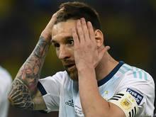 Messi für das Nationalteam gesperrt