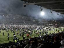 Die finnischen Fans waren nach dem Sieg über Liechtenstein nicht zu halten