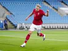 Erling Håland glänzt auch im norwegischen Team