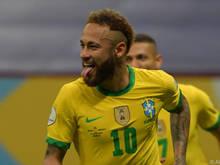 Neymar steuerte einen Treffer zum 3:0 bei