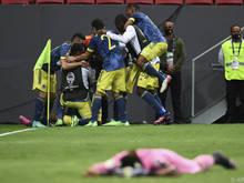 Die Kolumbianer freuen sich über Rang drei