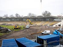 Das alte Stadion auf der Gugl wurde abgerissen