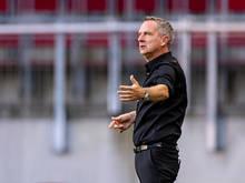 LASK-Trainer Thalhammer muss mit seiner Elf um die Gruppenphase bangen