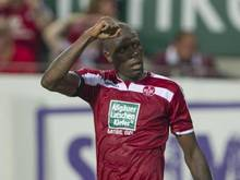Mohamadou Idrissou traf in der 28. Minute per Foulelfmeter. Foto: Uwe Anspach