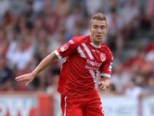 Erik Jendrisek erlöste die Cottbuser in der 83. Minute mit seinem Tor zum 1:0 gegen den SCMagdeburg. Foto: Thomas Eisenhuth