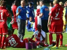 Christian Streich war alles andere als zufrieden mit der Leistung seiner Freiburger imDFB-Pokal. Foto: Jens Büttner