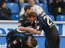 Der FSV Frankfurt benötigte die Verlängerung gegen Optik Rathenow um eine Runde weiter zu kommen. Foto: Arne Dedert