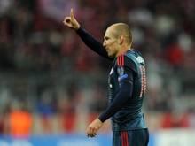 Arjen Robben will mit den Bayern auch gegen Hannover jubeln. Foto: Tobias Hase