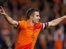 Mit 41 Treffern ist Robin van Persie neuer niederländischer Rekordtorschütze.