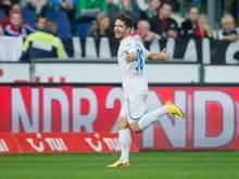 Kai Herdling bejubelt seinen zwischenzeitlichen Treffer zum 2:0 für Hoffenheim