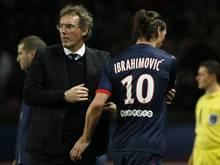 Paris-Coach Laurent Blanc (l) und sein Superstar Zlatan Ibrahimović